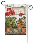 Stay Awhile BreezeArt Garden Flag