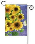 Sunflowers On Blue BreezeArt Garden Flag