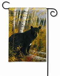 Black Bear BreezeArt Decorative Garden Flag