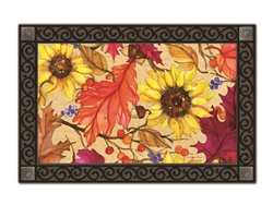 Sunflower Splendor MatMates Decorative Doormat