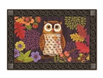 Floral Owl MatMates Decorative Doormat