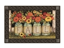 Fall Mason Jars MatMates Decorative Doormat