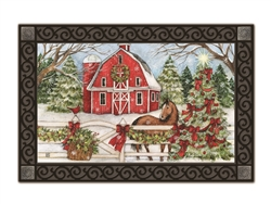 Christmas on the Farms MatMates Decorative Doormat