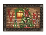 Christmas at the Cabin MatMates Decorative Doormat