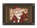 Santa with Star MatMates Decorative Doormat
