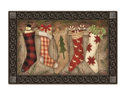 Christmas Stockings MatMates Decorative Doormat