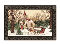 Religious Christmas MatMates Decorative Doormat