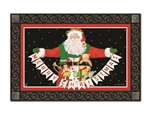 Santa Greetings MatMates Decorative Doormat