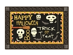 Skeleton Halloween MatMates Decorative Doormat