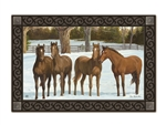 Winter Horse MatMates Decorative Doormat
