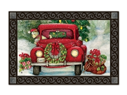 Bringing Home the Tree MatMates Decorative Doormat