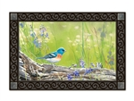 Meadow Bluebird MatMates Decorative Doormat