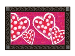 Valentine Wishes MatMates Decorative Doormat