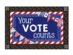 Your Vote Counts MatMates Decorative Doormat