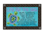 Turtle by the Sea MatMates Decorative Doormat