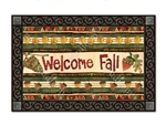Falling Leaves Welcome MatMates Decorative Doormat