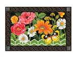 Fancy Floral MatMates Decorative Doormat