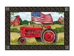 Patriotic Tractor MatMates Decorative Doormat