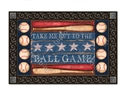 Baseball Season MatMates Decorative Doormat