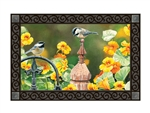 Chickadee Fence Post MatMates Decorative Doormat