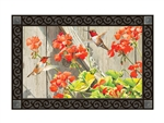 Hummingbirds with Geraniums MatMates Decorative Doormat