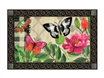 Butterflies in Check MatMates Decorative Doormat