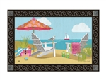 Better at the Beach MatMates Decorative Doormat