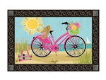 Morning Beach Ride MatMates Decorative Doormat