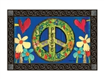 Peace Everywhere MatMates Decorative Doormat