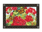 Red Geraniums MatMates Decorative Doormat