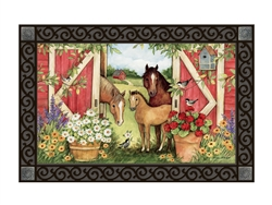 Springtime on the Farm MatMates Decorative Doormat