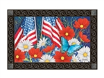 Red, White, and Blue MatMates Decorative Doormat