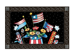 Patriotic Hat MatMates Decorative Doormat