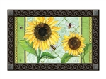 Single Sunflower MatMates Decorative Doormat