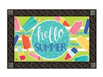 Ice Cream and Popsicles MatMates Decorative Doormat