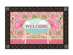 Coastal Flamingo MatMates Decorative Doormat