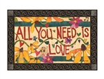 All You Need is Love MatMates Decorative Doormat