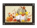 Neutral Pumpkins MatMates Decorative Doormat