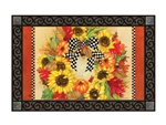 Sunflower Wreath MatMates Decorative Doormat