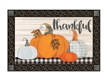 Plaid Pumpkin MatMates Decorative Doormat