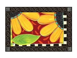 Whimsical Sunflower MatMates Decorative Doormat