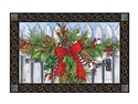 Holiday Garland MatMates Decorative Doormat