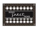 Black & White Check MatMates Decorative Doormat