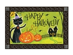Black Cat Magic MatMates Decorative Doormat