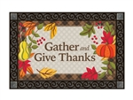 Whimsical Turkey MatMates Decorative Doormat