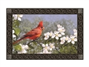 Cardinal in Blossoms MatMates Decorative Doormat