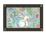 Easter Bunny Garden MatMates Decorative Doormat