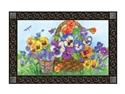 Pansy Lane MatMates Decorative Doormat