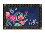 Boho Flowers MatMates Decorative Doormat