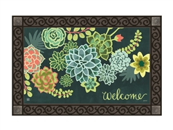 Boho Succulents MatMates Decorative Doormat